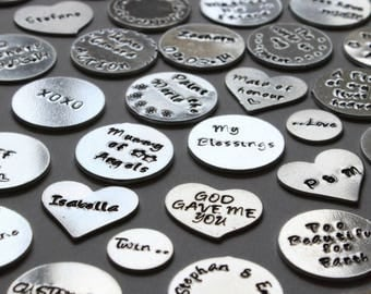 Hand Stamped Plates, Personalised Locket, Personalised Necklace, Custom Necklace, Custom Locket, Choose Your Own, Memory Locket, Floating