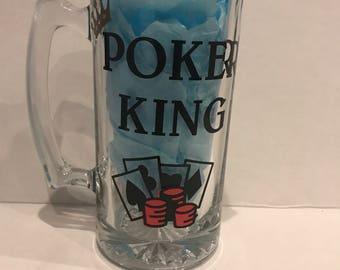 POKER KING MUG| Gambling Gift| King of Poker Gift| Gambling gift for him| Poker Gift| Poker Mug