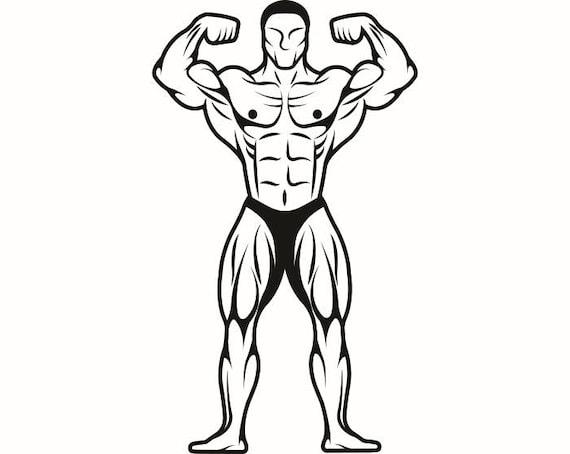 Bodybuilder 14 Bodybuilding Logo Front Pose Weightlifting