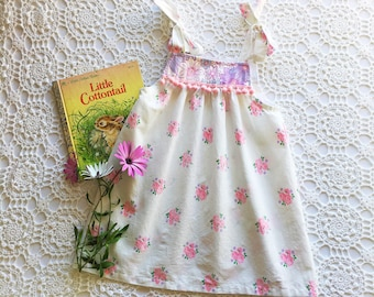 Toddler's dress, vintage floral girl's dress, size 2 dress, little girl's outfit
