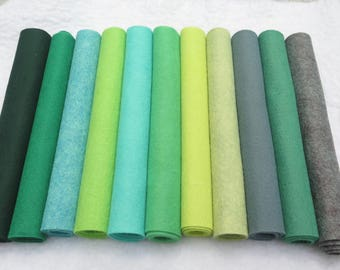 Choose your own palette, wool blend felt, 5 sheets, more colors, kids crafts, felt sheets,