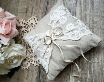 Ring Bearer Pillow - Taupe | Wedding Ring Pillow | Ring Bearer Cushion | Ring Pillow | Ring Cushion
