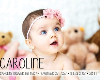 "Birth Announcement // Postcard or Card // Horizontal Vertical // 4""x6"" 5""x7"" // PDF Download"