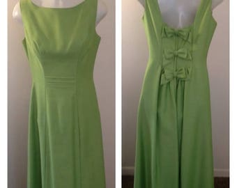 Anniversary Sale Lovely Vintage Lime Green Formal Dress
