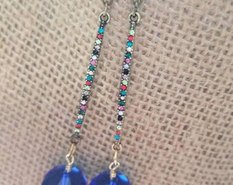 Earrings multicolored stones