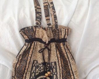 double boho ethnic bag