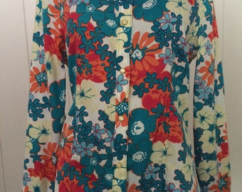 Autumn florals western rodeo shirt