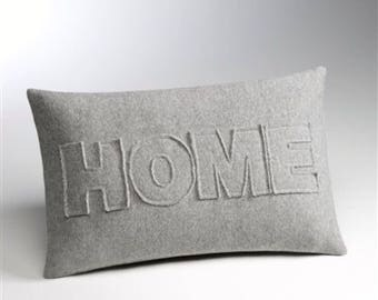 "Home Throw Pillow 16""x24"" Pillow Cover"