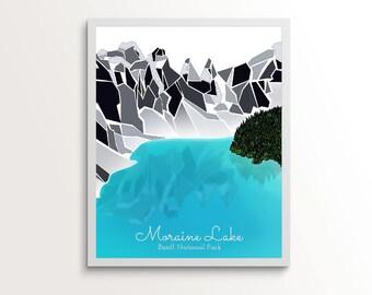 Moraine Lake - Banff - Lake Louise, Alberta, Canada -- Premium Mountain Print, Wall Art, Canadian Mountains, Art Print