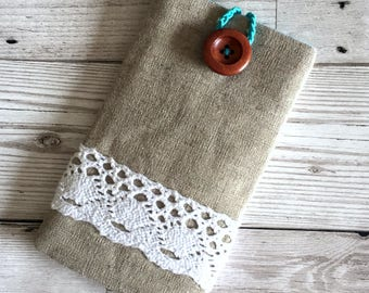 Linen & Lace, Mobile Phone Case, Mobile Phone cover, Iphone Case, Samsung Case, Cell Phone Case, Iphone Sleeve
