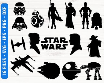 Star wars silhouette Star wars SVG Commercial use ok