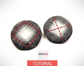 PROMO Orsons XOXO chips earrings polymer clay Original tutorial e-book