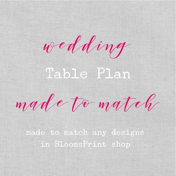 Wedding table plan template, Wedding table seating plan template, Wedding Seating Chart Template, Printed wedding table plan, A2,A1 or A0