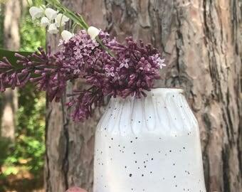 Handmade ceramic bud vase