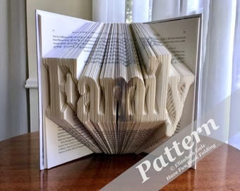 FAMILY Book Folding Pattern -- 290 folds (580 numbered pages). Includes free How-To Guide with 3 free patterns.