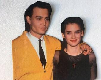 Winona + Johnny! Winona Ryder and Johnny Depp inspired magnet