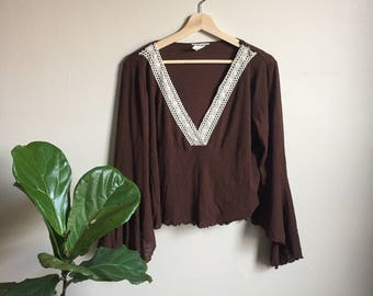 vintage bell sleeve top