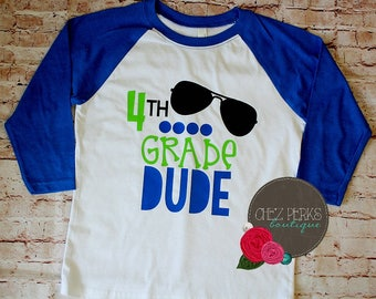 back to school shirt ,boys back to school shirt , back to school outfit , 4th grade shirt
