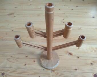 Wooden candleholder, Vintage Natural Wood Candle Holder, Traditional Swedish folk Candle holderj, Scandinavian Christmas Holidayo Home Decor