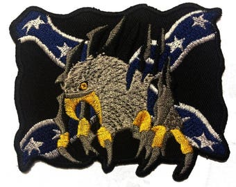Patch/Ironing-eagle flag-Black-8.5 x 6.6 cm-by catch-the-Patch ® patch appliqué applications for ironing application patches patch