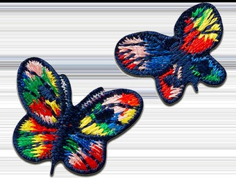 Patch/Ironing-Set butterfly-colorful-various sizes-by catch-the-Patch ® patch appliqué applications for ironing application patches patch