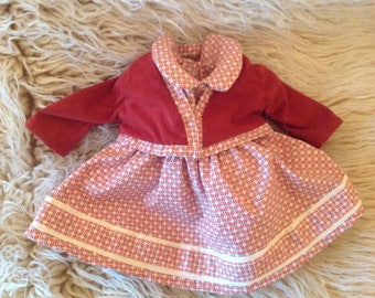 """American Girl doll dress and jacket, fits 18"""" dolls."""