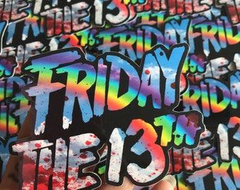 Friday The 13th Death Rainbow - Die Cut Sticker
