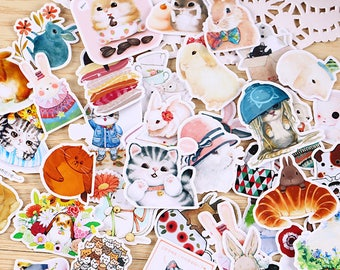 35 Pieces of Lovely Animals Stickers - Journal/Planner/Scrapbooking