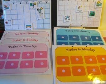 Board maker holiday/School/ everyday schedule folder