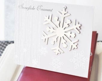 Silver snowflake ornament-minimum order of 24-winter wedding favors, Christmas party favors, holiday party favors