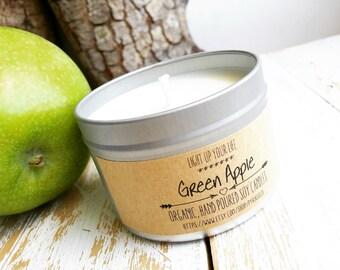 Green Apple Soy Candle, Apple Soy Candle, Green Apple Candle, Scented Candle, Soy Candle, Organic Candle, Natural Candle, Vegan Candle