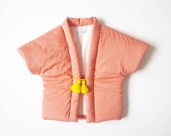 Baby Hanten,Kimono jacket, japanese vest, BONBON, fabric by Atelier Brunette