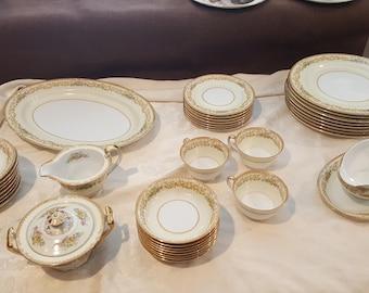 """Vintage Noritake China """"Elvira"""" Pattern - Lot of 38"""