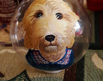 Glass Goldendoodle Ornament Collectible Memorial
