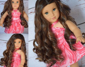 "Custom Doll Wig 10-11"" Heat Safe Brand New Journey Gotz American Girl size wigs"