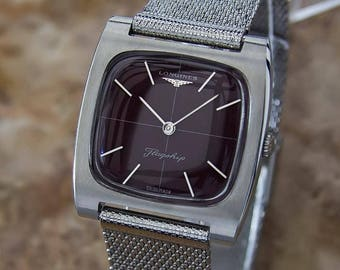 Longines Flagship 1970 Swiss Made Stainless Steel Mens Manual Dress Watch W13
