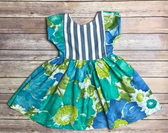 Girls Size 3T Vintage Upcycled Dress