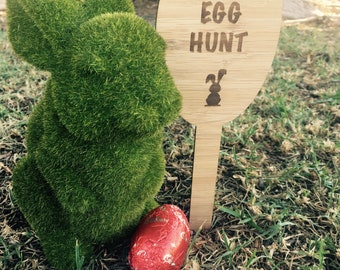 Bamboo Easter Egg Hunt Signs