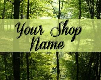 Shop Banner, Shop Banner Set, Banner Set, Custom Banner, Banner Design, Graphic Design, Cover Photo, Premade Banner, Forest Banner Set,