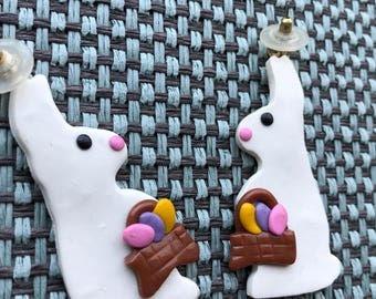 Vintage Pair of Easter Bunny Earrings