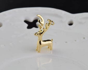 3 of 14k gf deer antler charm pendant 20*7mm XD4
