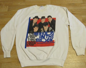 Vintage New Kids on The Block Sweater Hangin Tough XL