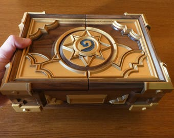 Custom Premium HS Box Replica Personalized Wooden Сasket Solid Walnut Wood Blizzard Warcraft Hearthstone Card Game Gift