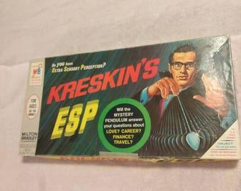 1966 Kreskin's ESP Game made by Milton Bradley