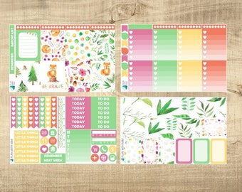 Forest Foxes 4 Page Weekly Kit for Erin Condren Vertical LifePlanner