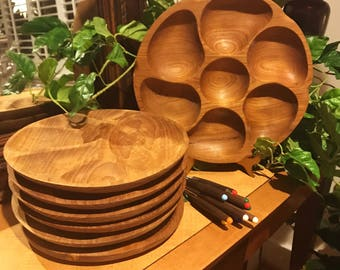Wooden Fondue Set