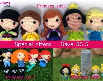 Crochet pattern of Princess set 1, 2 and 3