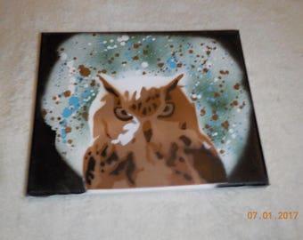 Owl Spray Paint Art