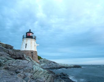 Castle Hill Lighthouse, Rhode Island, Newport, Atlantic, Coast, Wall Decor, Wall Art, Photography, Print, Gift Idea, Christmas