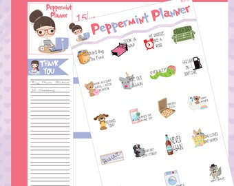 Bad Day Not doing anything planner stickers #373